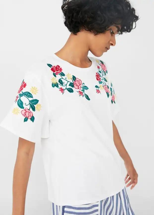 Блуза женская MANGO размер S хлопковый трикотаж