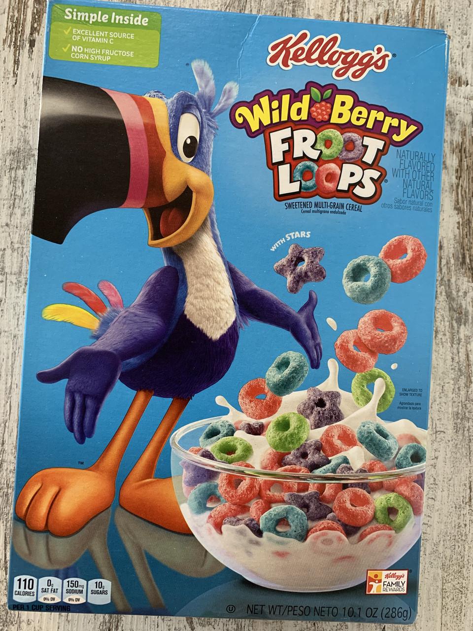 Сухой завтрак цветные ягодные колечки Kellogg's Froot Loops