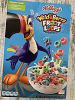 Сухой завтрак цветные ягодные колечки Kellogg's Froot Loops, фото 1