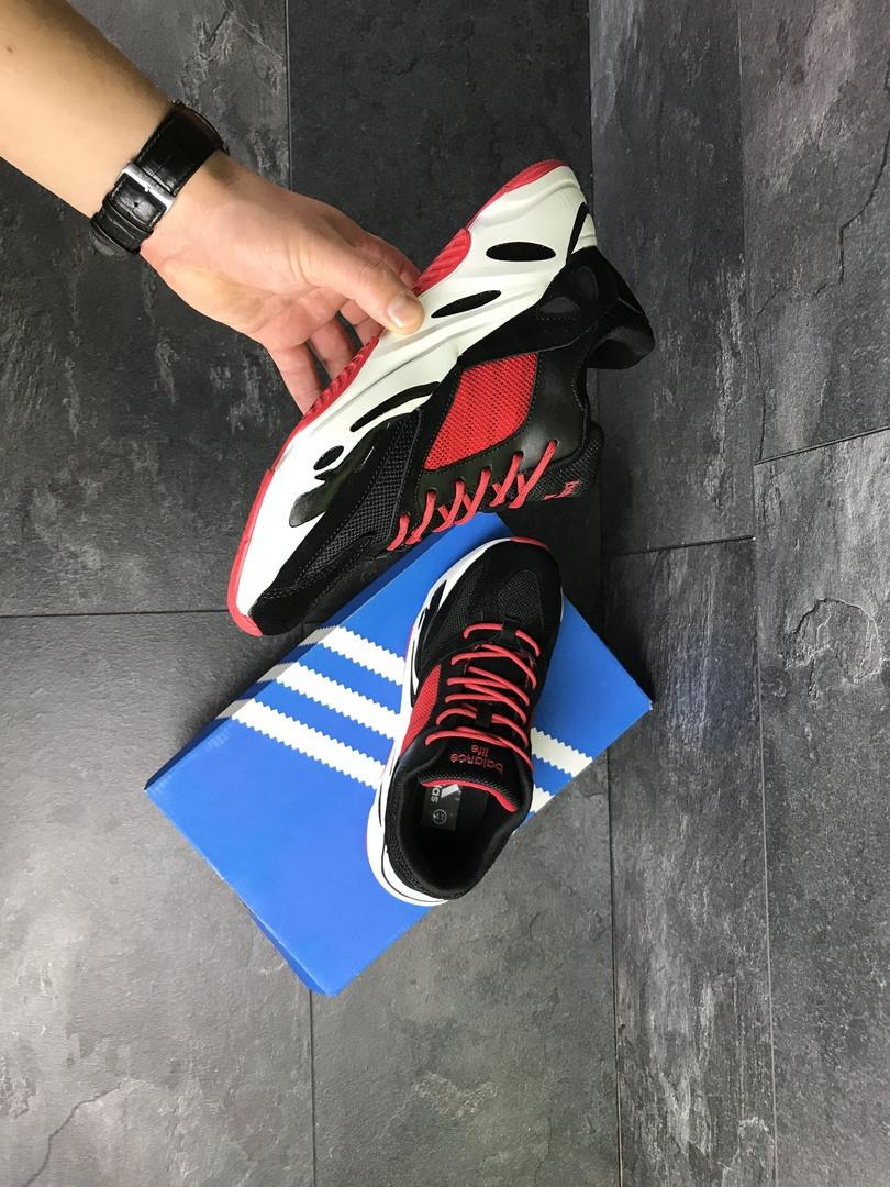 Мужские кроссовки Adidas balance life (черно-красные)