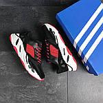 Мужские кроссовки Adidas balance life (черно-красные), фото 2