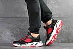 Мужские кроссовки Adidas balance life (черно-красные), фото 5