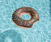 Надувной круг пончик шоколадный с присыпкой 107 см Bestway, фото 1