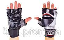 Перчатки для смешанных единоборств MMA кожаные VELO ULI-4036-BK