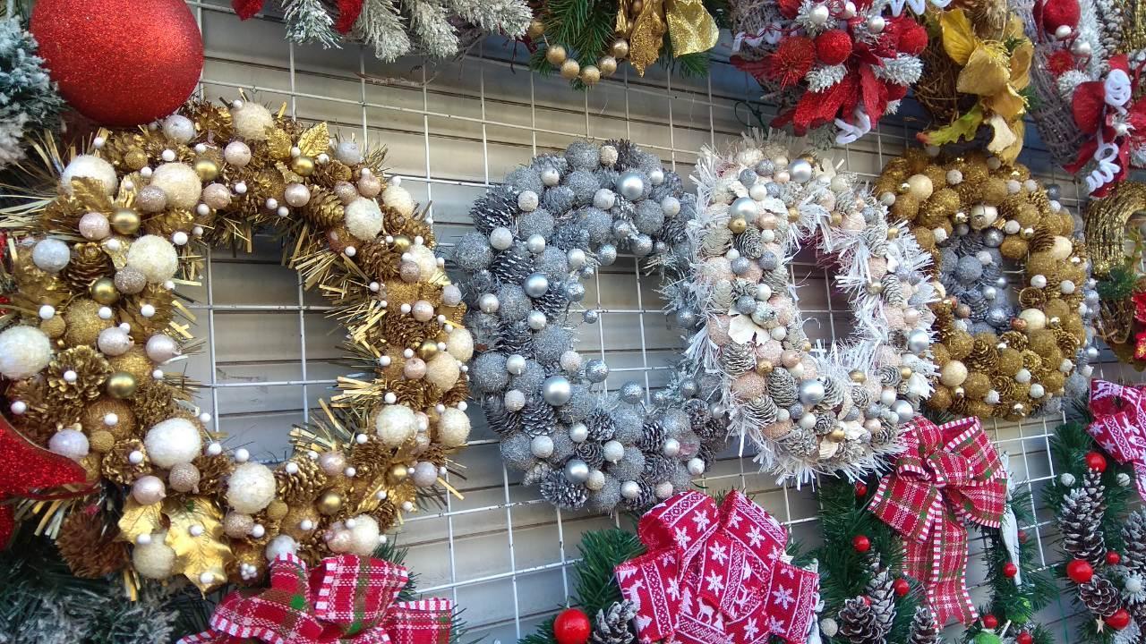 Рождественский декоративный венок украшение дома на Новый год