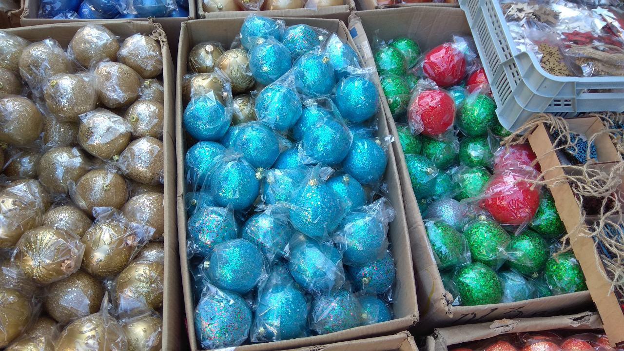 Новогодние шарики 10 см диаметр красивые разные цвета на елку украшение новогоднее