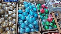 Новогодние шарики 10 см диаметр красивые разные цвета на елку украшение новогоднее, фото 1