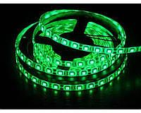Светодиодная лента LED 5050 Green стандартная зеленая для помещений и уличного освещения