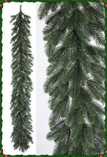 Гирлянда декоративная литая ель красивая как живая 2 метра на новый год украшение