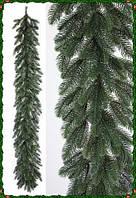 Гирлянда декоративная литая ель красивая как живая 2 метра на новый год украшение, фото 1
