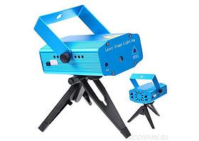 Лазерный проектор Mini Laser Stage Lightning, цветомузыкальная установка