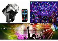 Светодиодный диско шар Led Party Light с пультом, проектор для дискотеки, фото 1