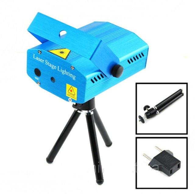 Диско Лазер XTQ 077 лазерный проектор, цветомузыка, стробоскоп для вечеринки