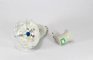 Диско лампа LASER Rotating lampi, вращающаяся светодиодная диско лампа-шар