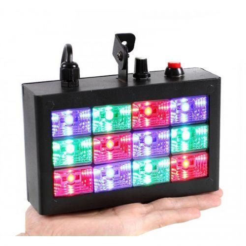 Диско светодиодный проектор LASER 12L MP3 Стробоскоп