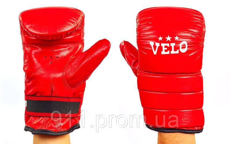 Снарядные перчатки Кожа VELO ULI-4003 (р-р S-Xl)