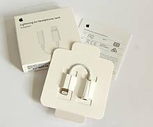 Lightning to 3.5 mm Jack Adapter Перехідник для навушників Apple EarPods для iPhone11Pro Max Адаптер вихід 3,5 мм