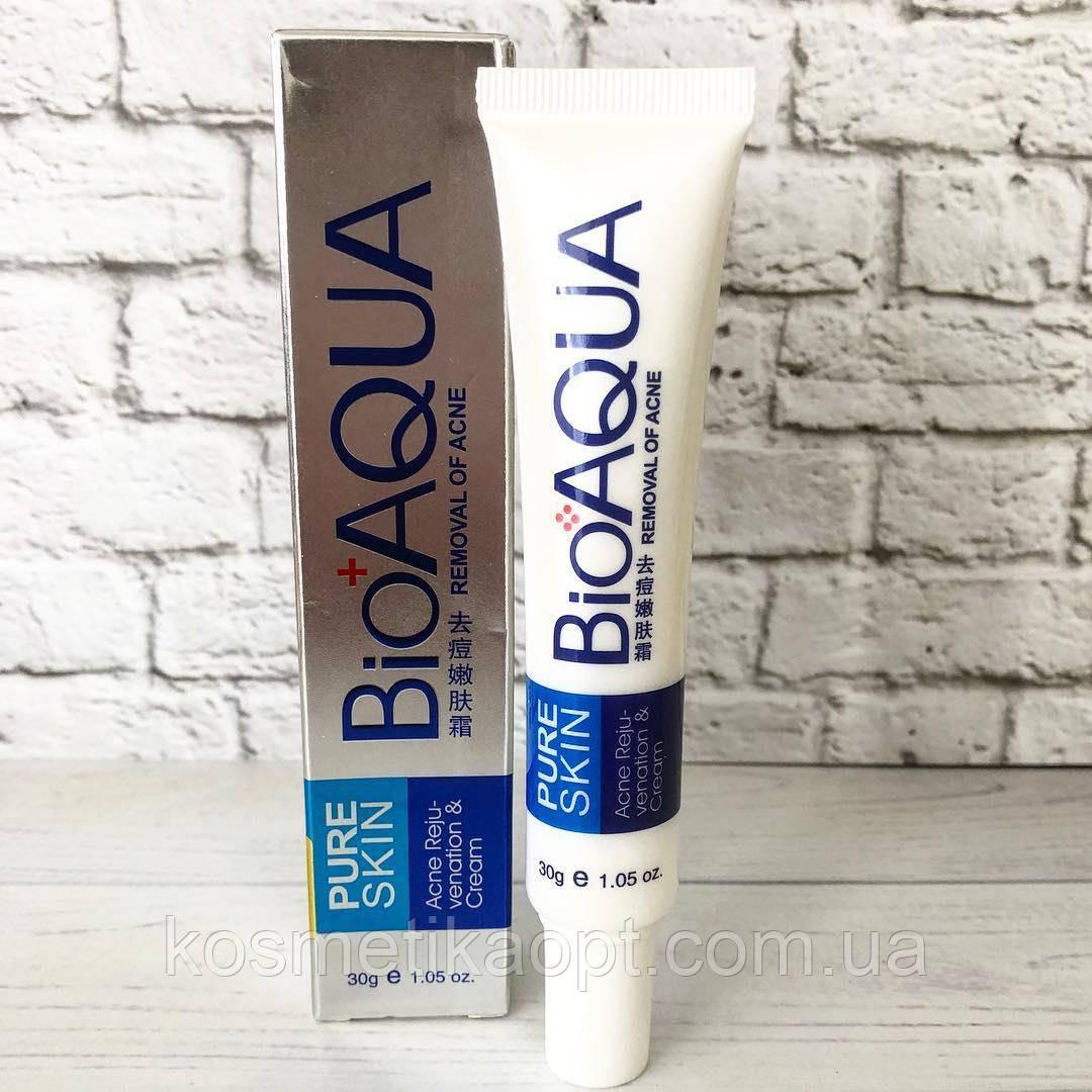 Анти-акнэ крем, ( ПРОТИВ ПРИЩЕЙ) осветляющий BioAQUA PURESKIN Anti Acne-light Print & Cream