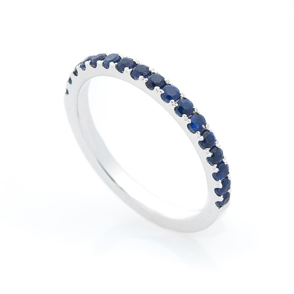 Золотое кольцо с синими сапфирами гкб0116ch