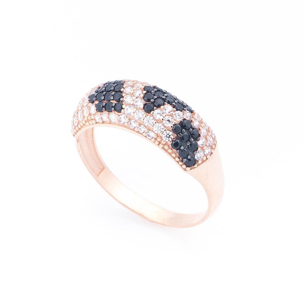Золотое кольцо с фианитами гк05165