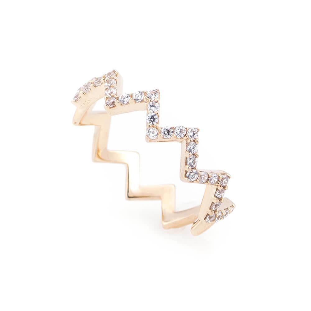 Золотое кольцо с фианитами гк05333