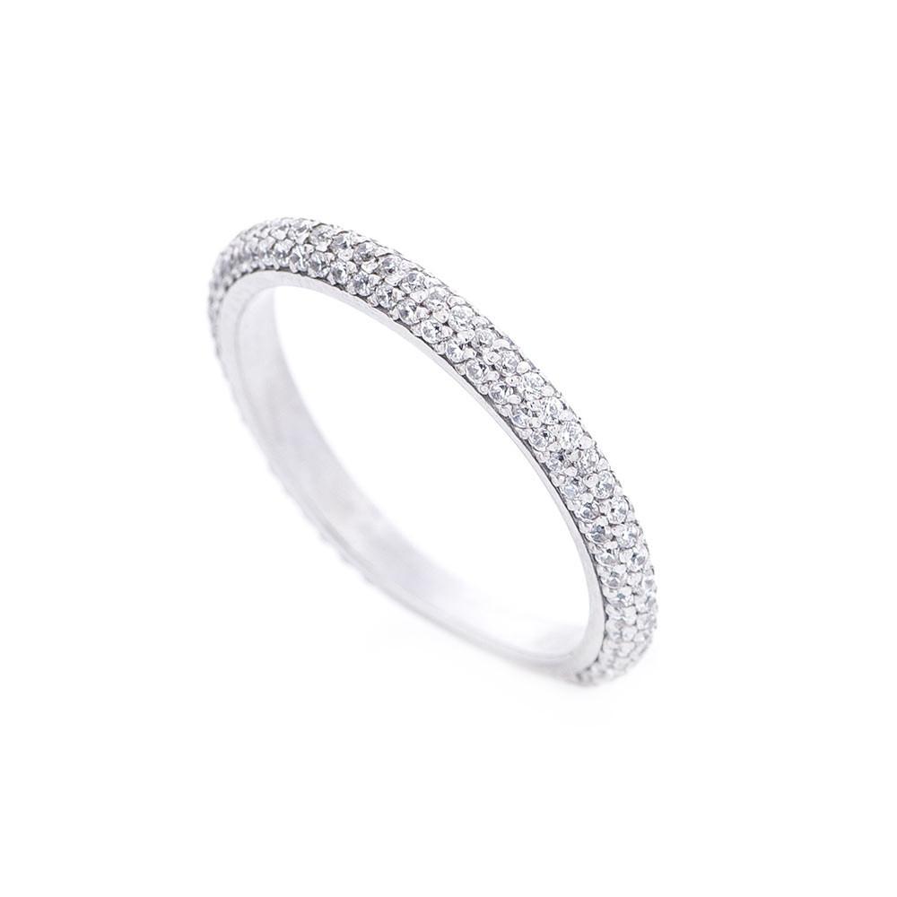 Золотое кольцо с фианитами гк364