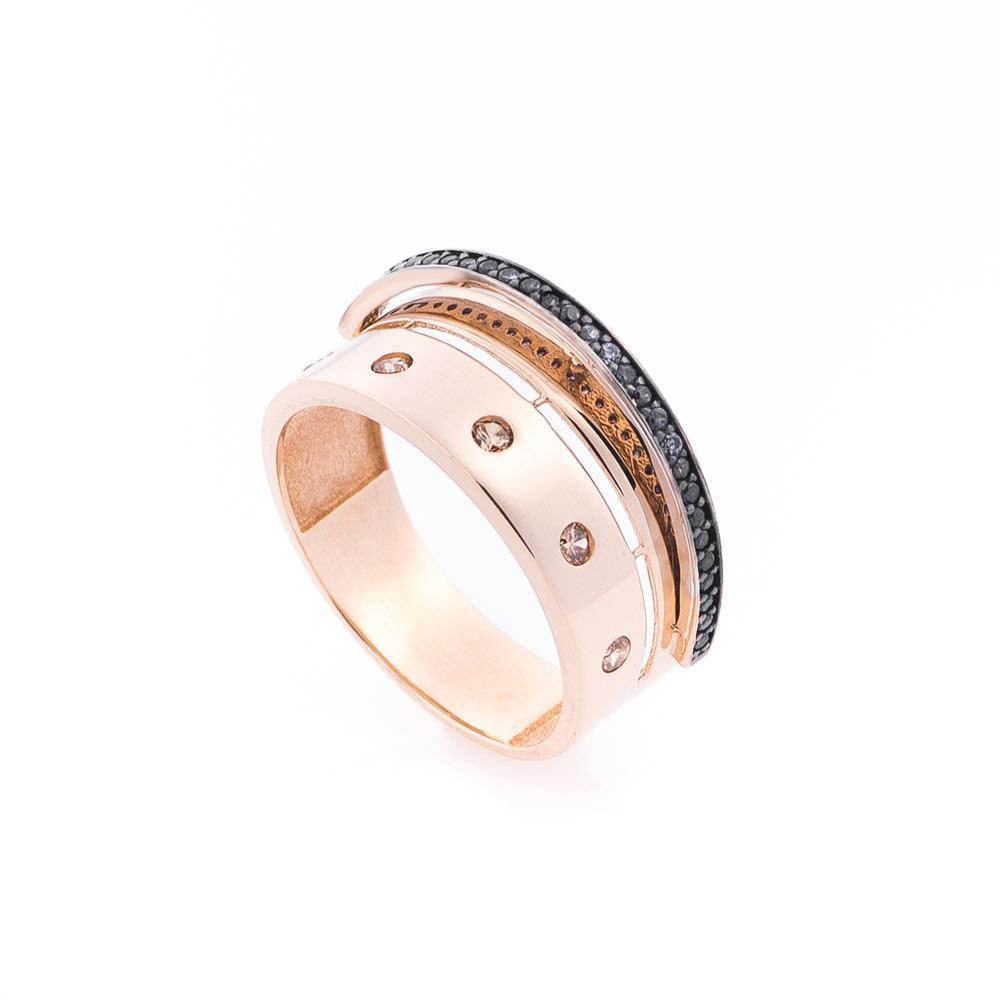 Золотое кольцо с фианитами гк05478