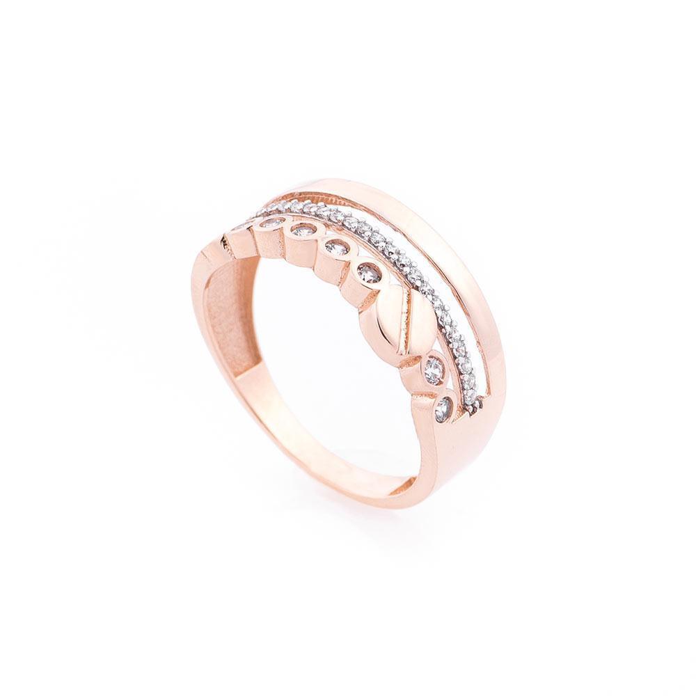 Золотое кольцо с фианитами гк05469