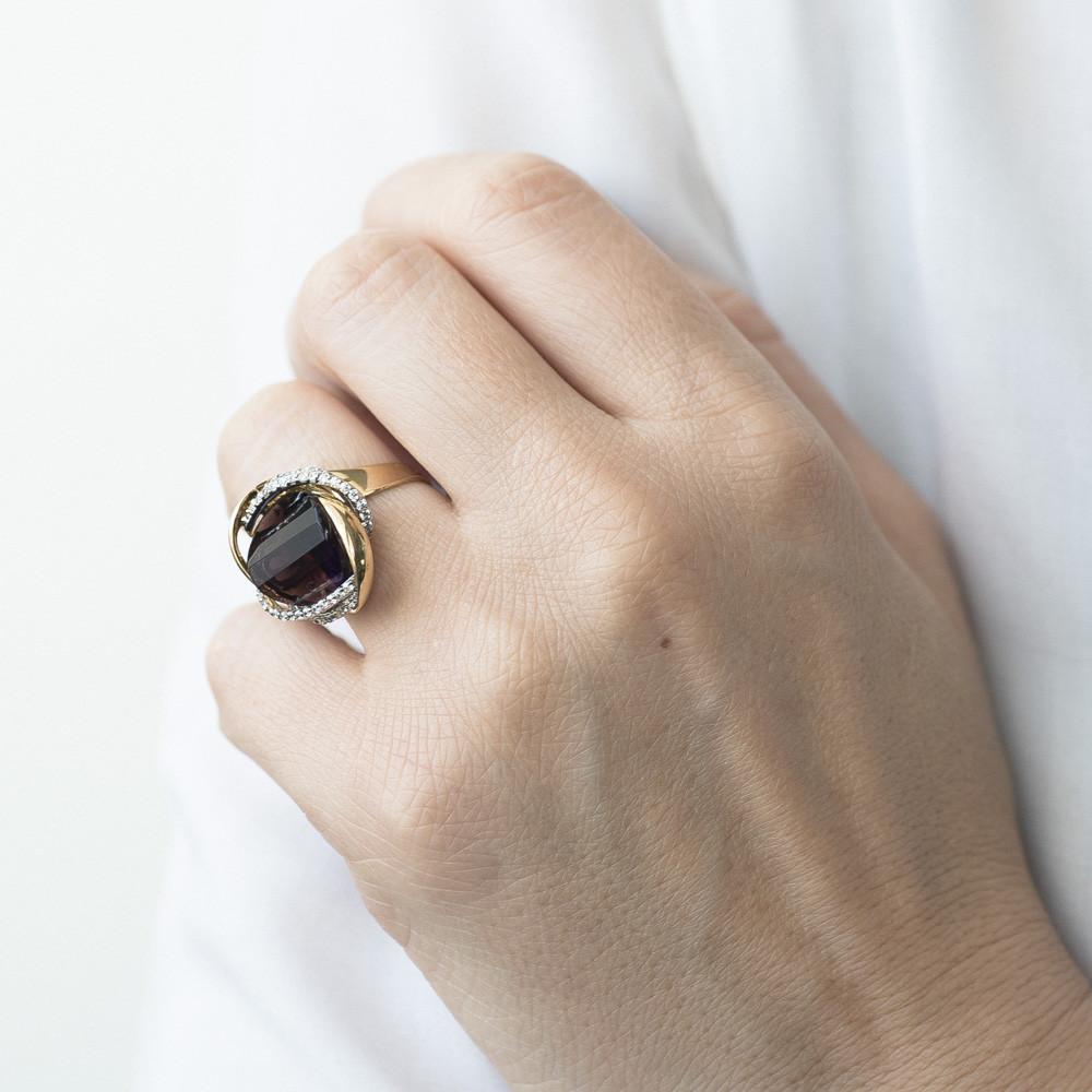 Эксклюзивное кольцо с фианитами гк03264