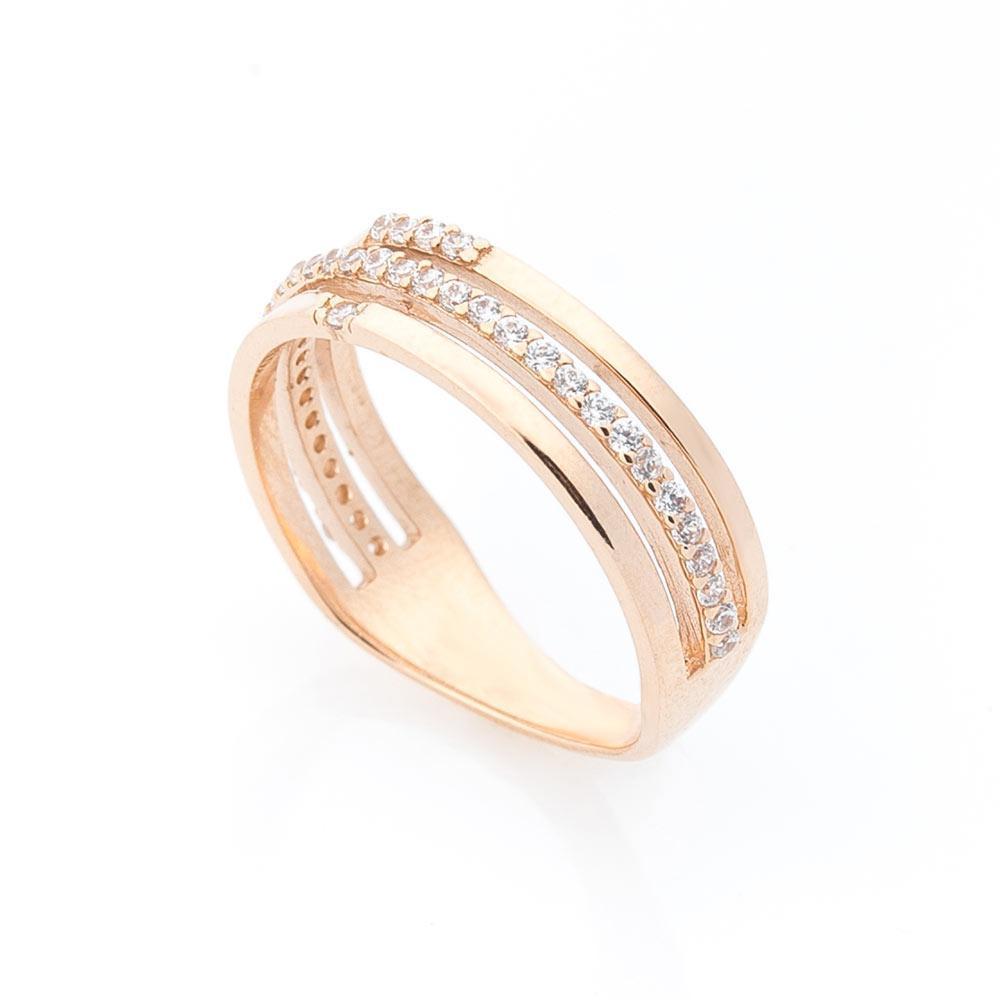 Золотое кольцо с фианитами гк05526