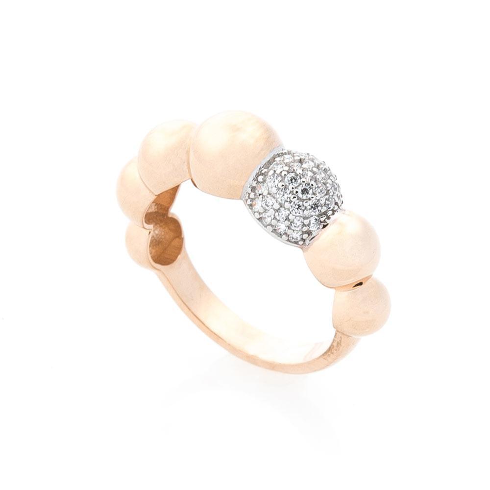 Золотое кольцо с фианитами гк05400