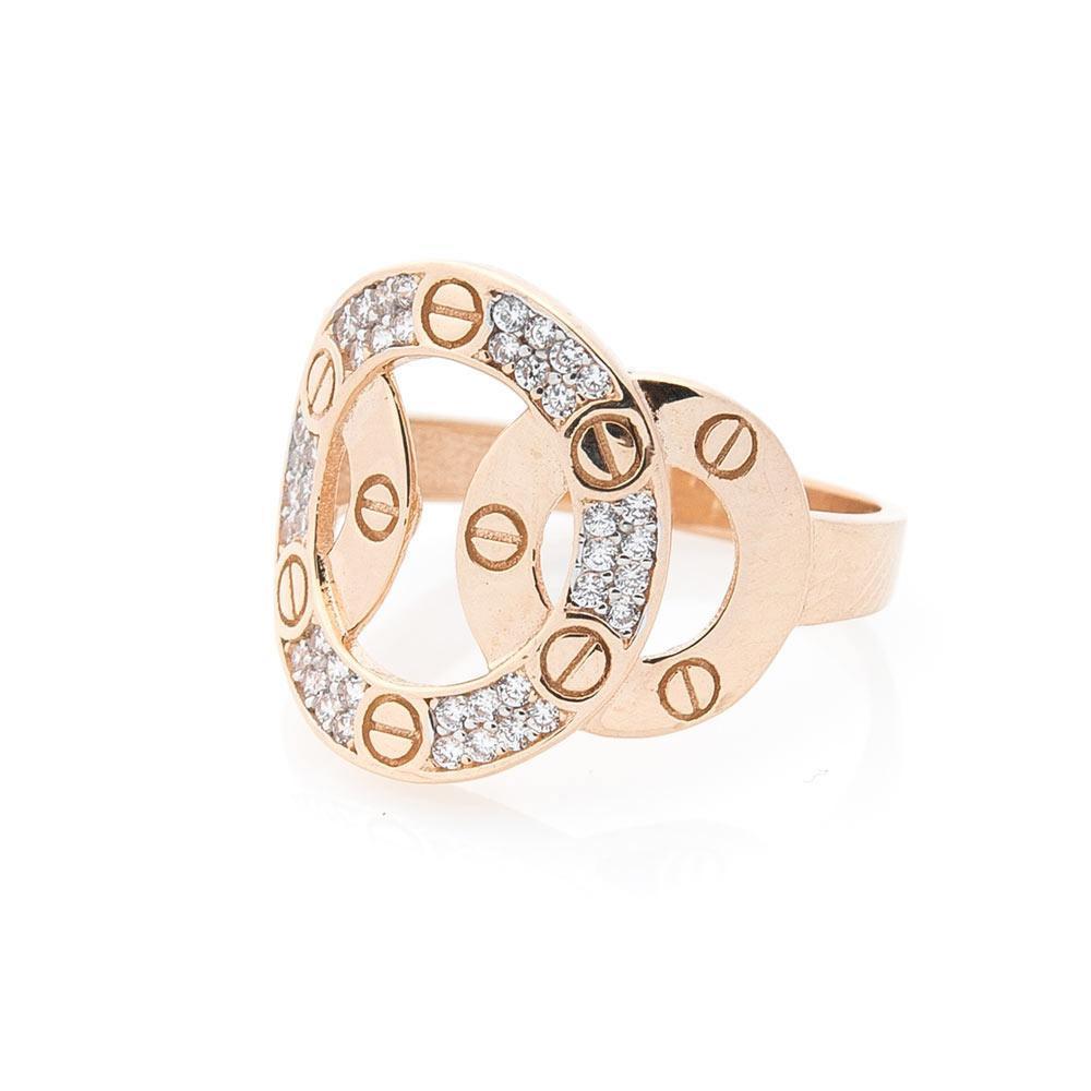 Золотое кольцо с фианитами гк05575