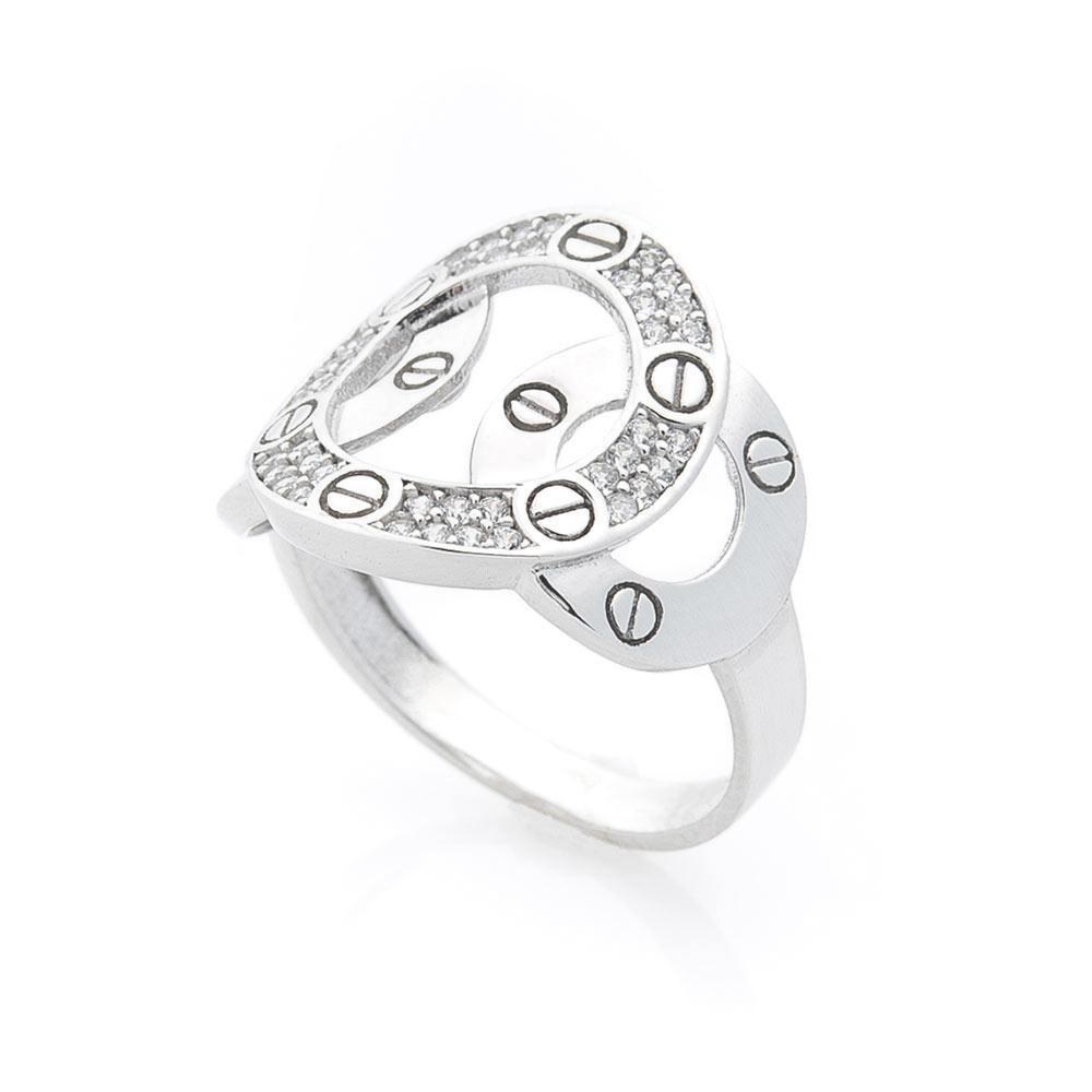 Золотое кольцо с фианитами гк05577