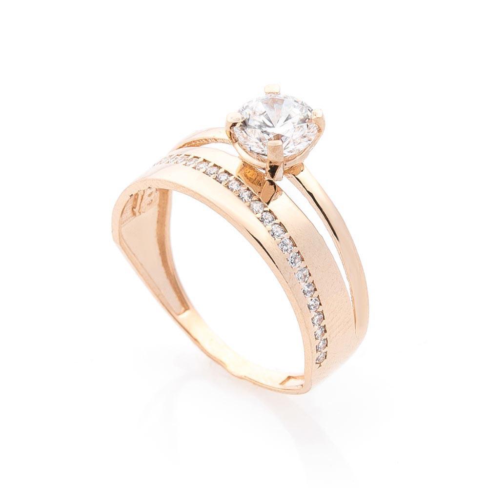 Золотое кольцо с фианитами гк02996