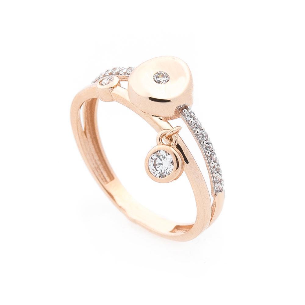 Золотое кольцо с фианитами гк05703