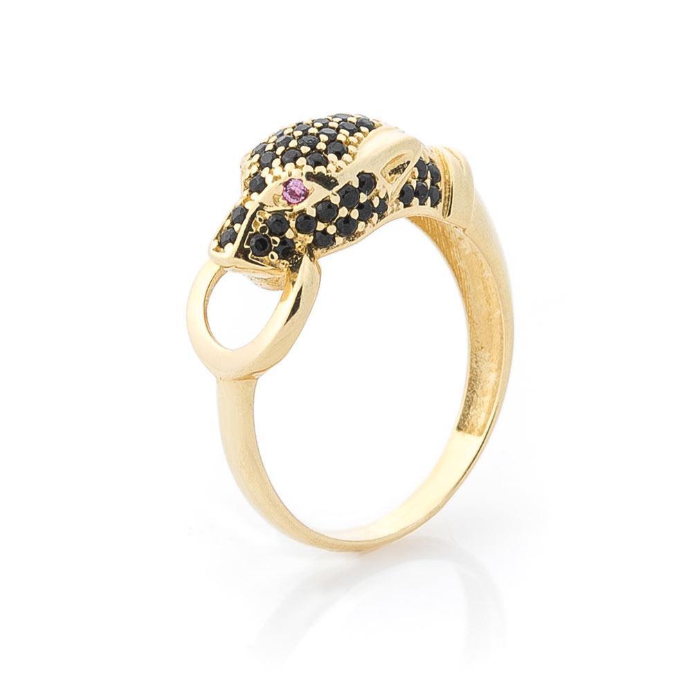 """Золотое кольцо """"Пантера"""" (фианиты) гк05000"""