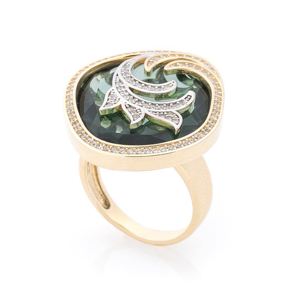 Золотое кольцо с фианитами гк05851