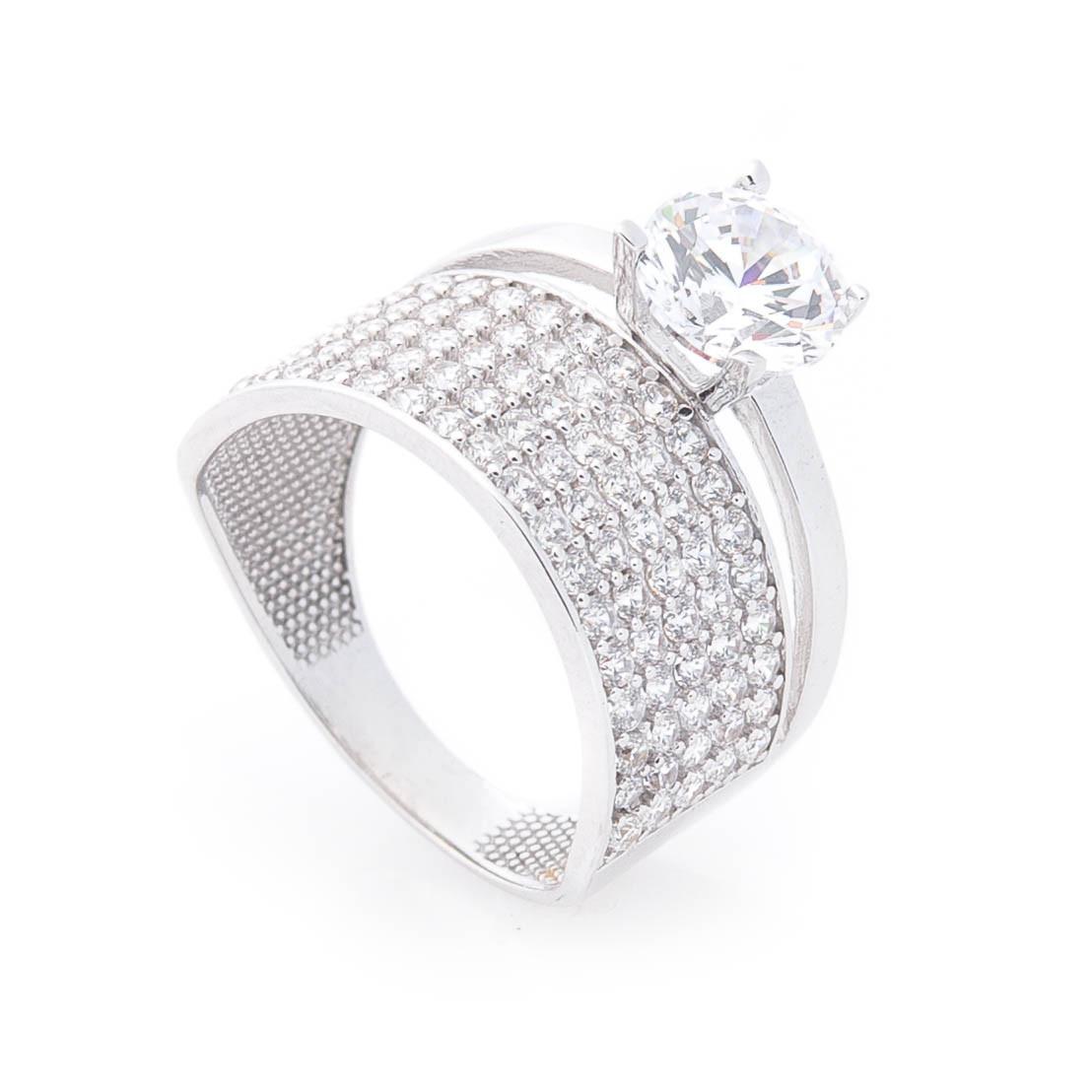 Кольцо для предложения белое золото гк05364