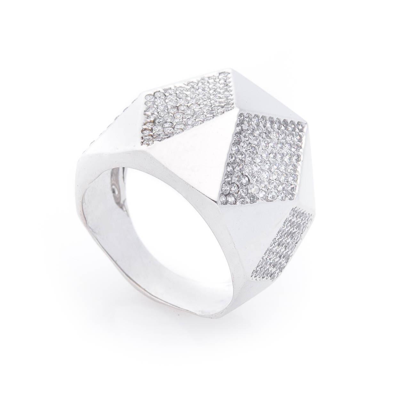 Эксклюзивное золотое кольцо с фианитами гк04518