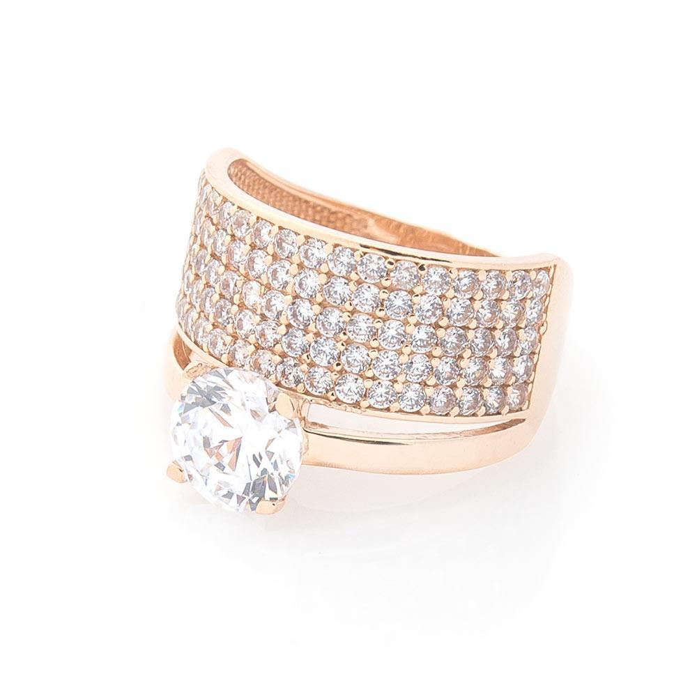 Золотое кольцо с фианитами гк05797