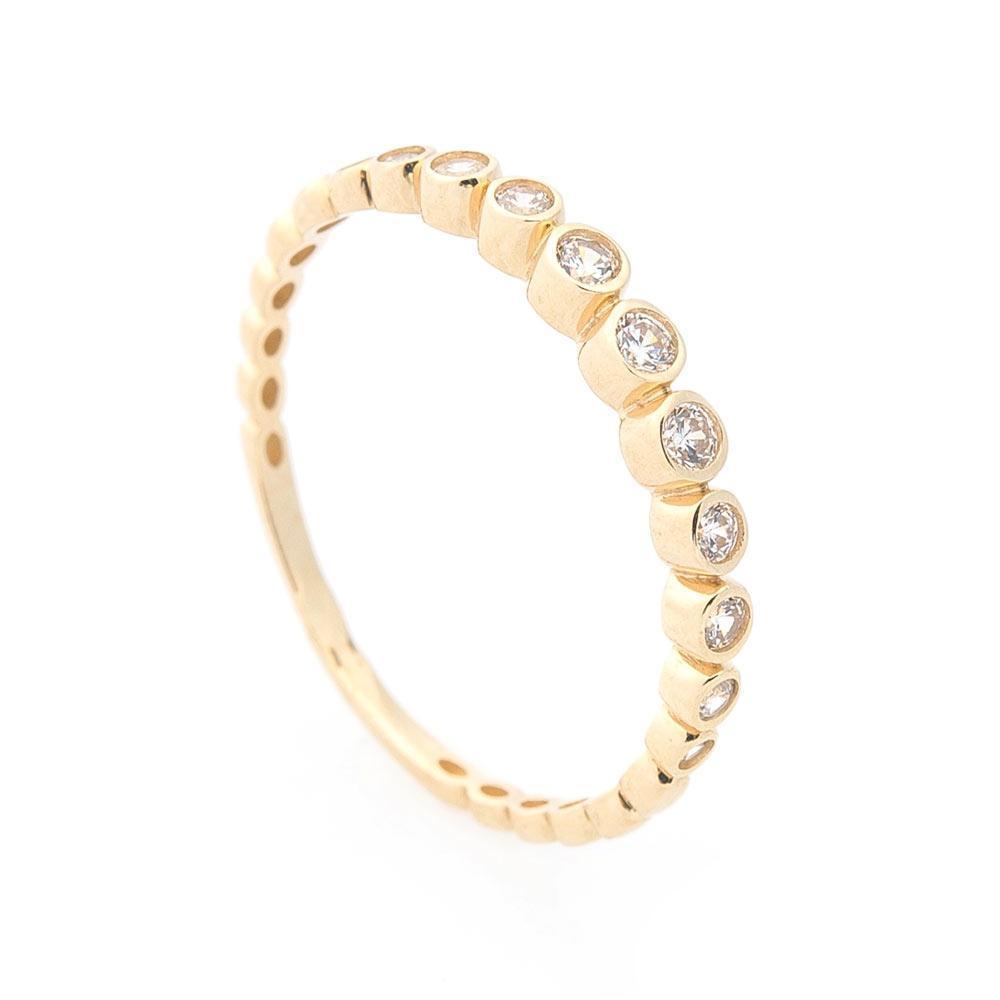 Золотое кольцо с фианитами гк05713