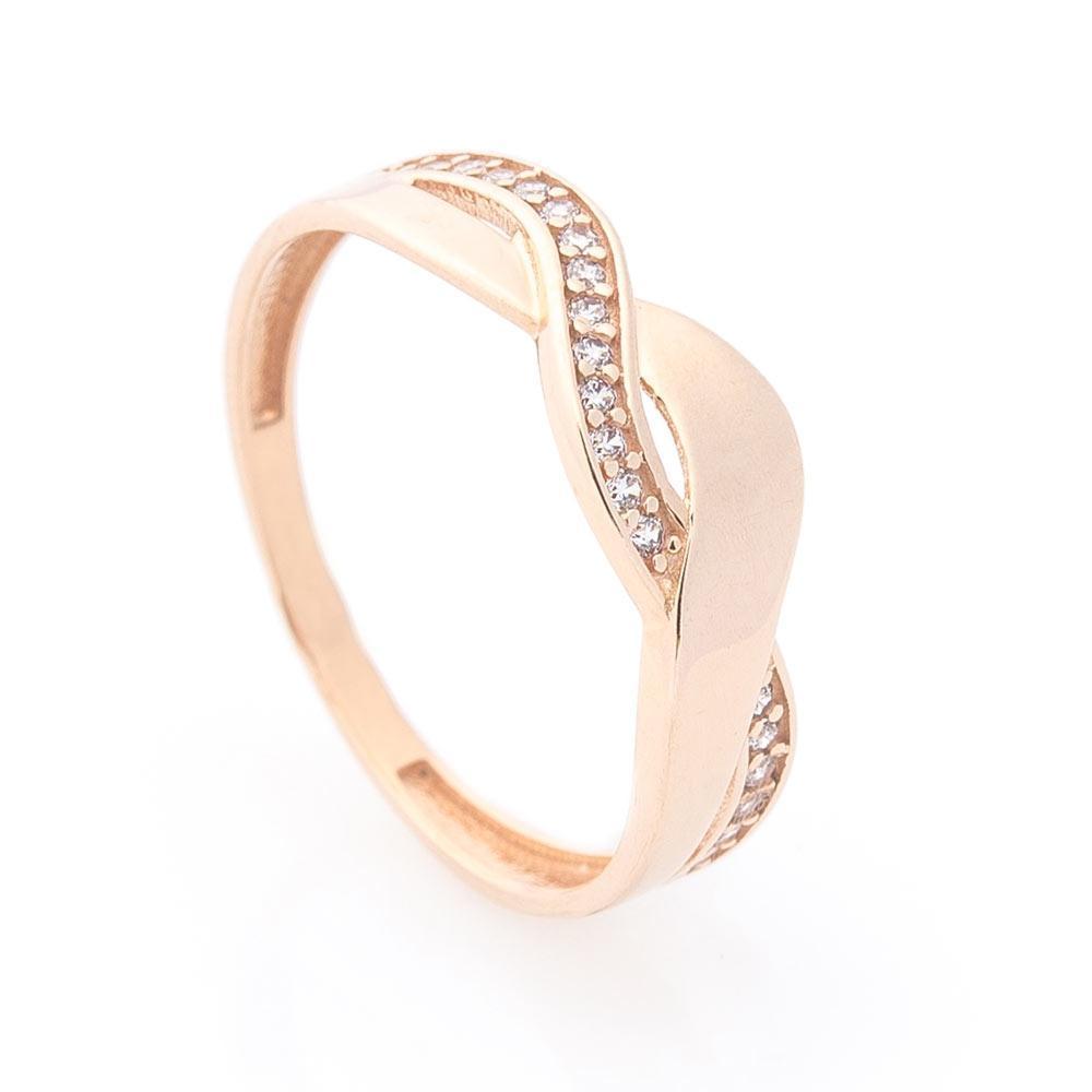 Золотое кольцо (фианиты) гк05803