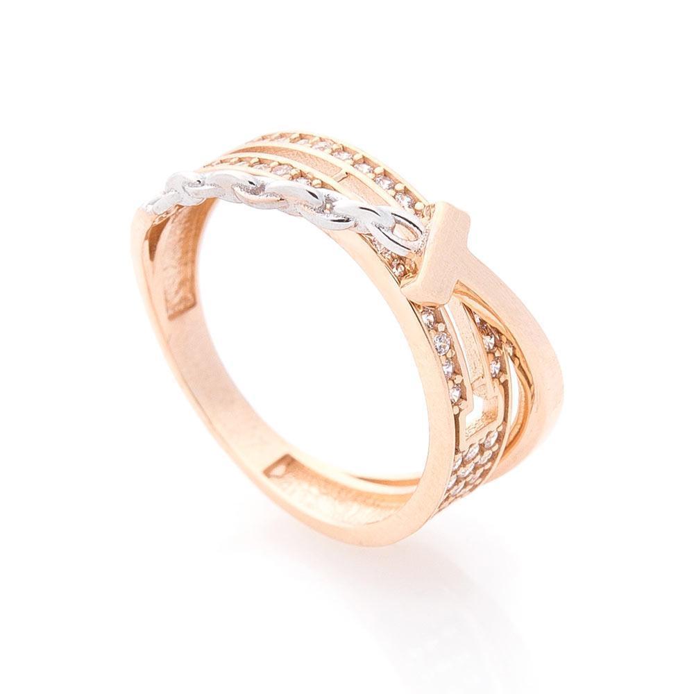 Золотое кольцо с фианитами гк05567
