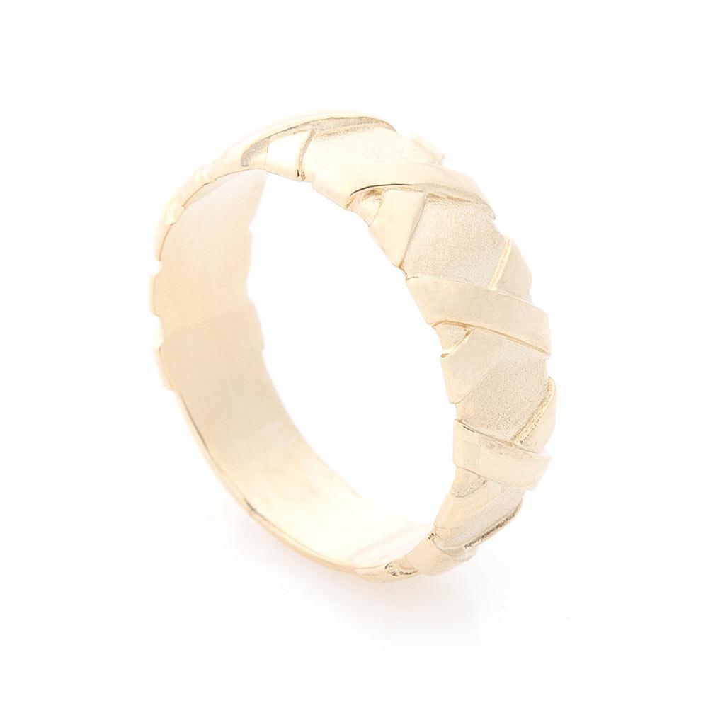 Золотое кольцо без камней гк05894
