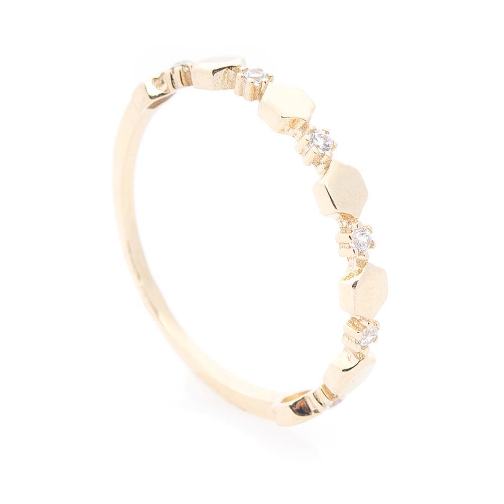 Золотое кольцо (фианиты) гк05932