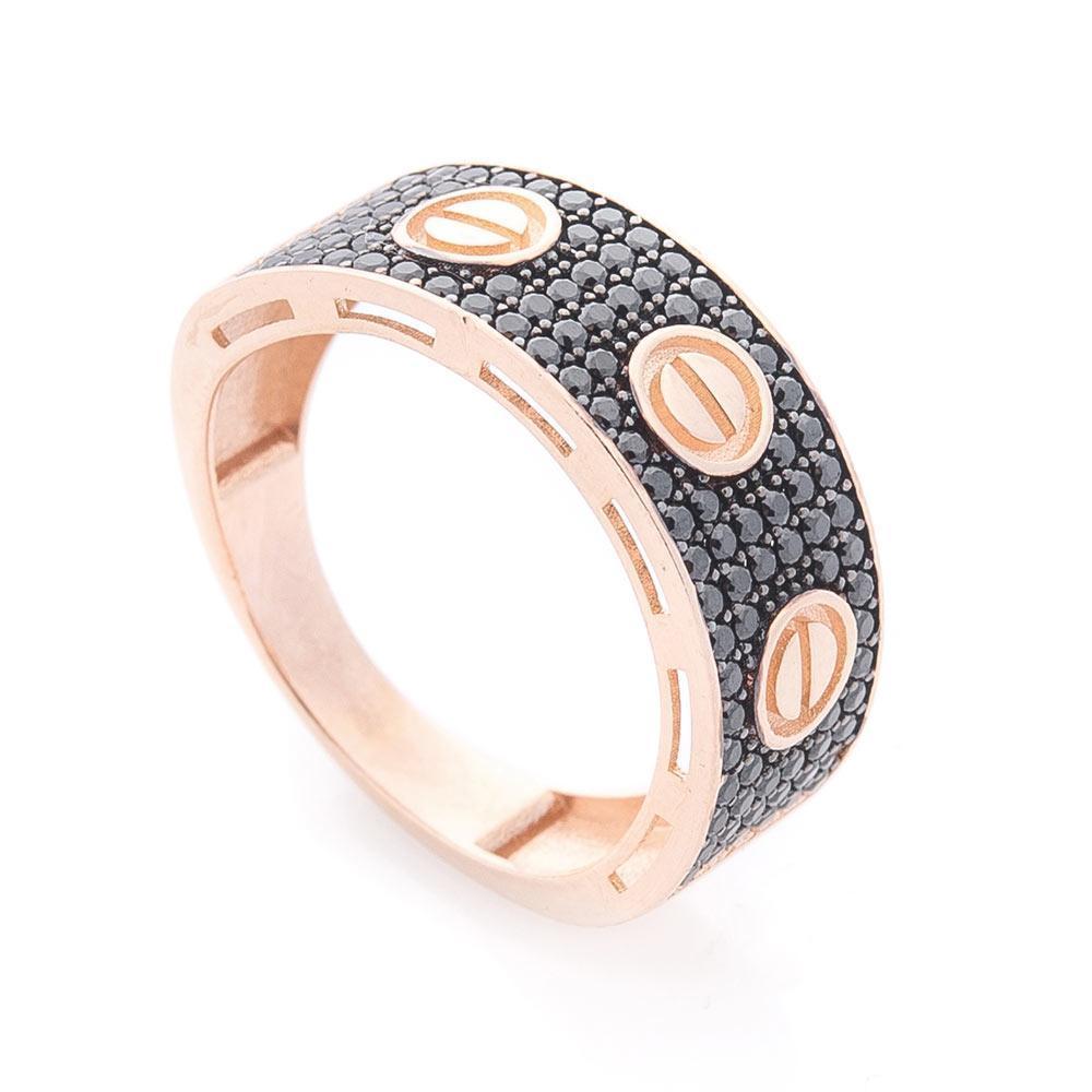 Золотое кольцо с фианитами гк05226