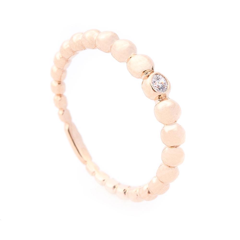 Золотое кольцо с фианитом гк06089