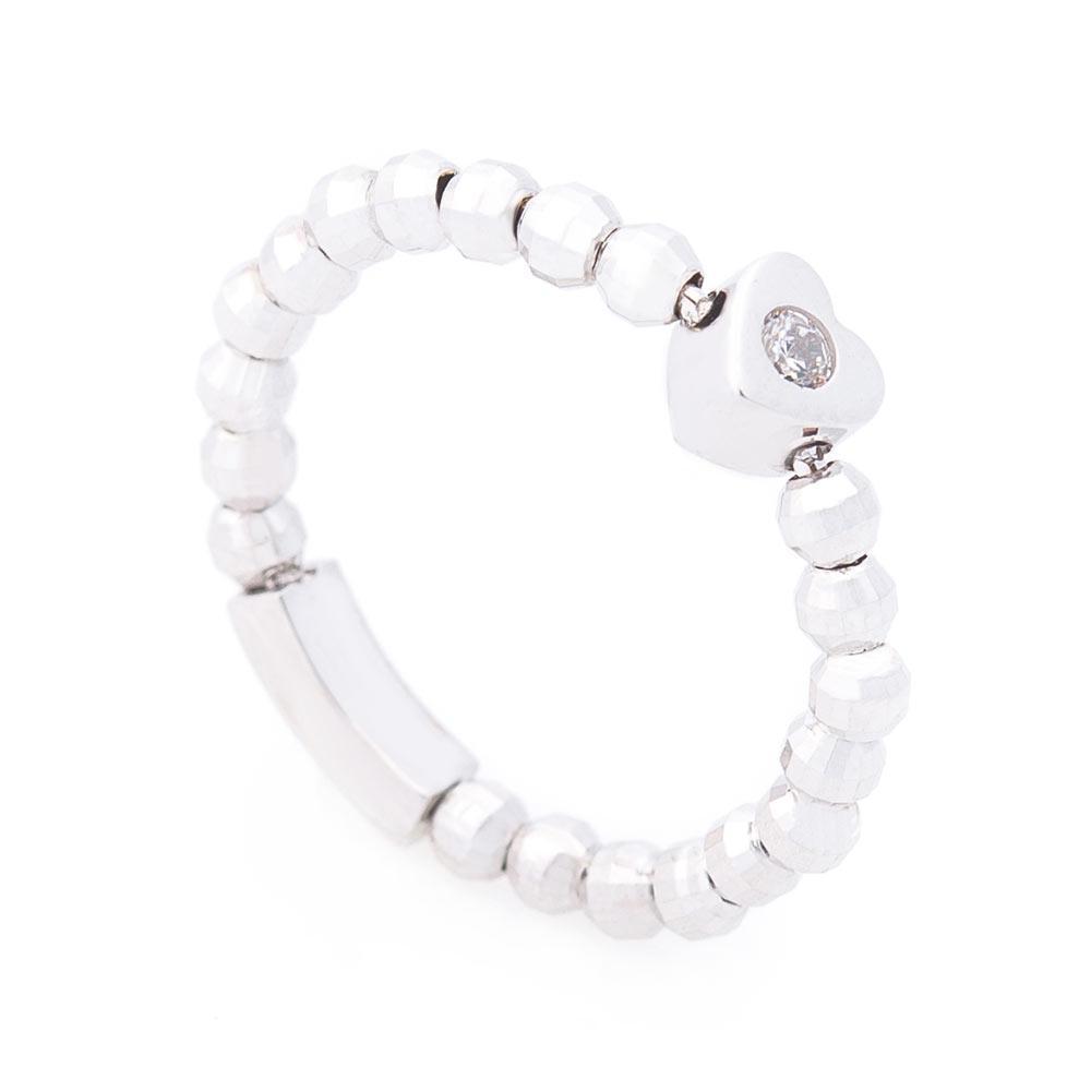 Золотое кольцо с сердечком (фианит) гк06181