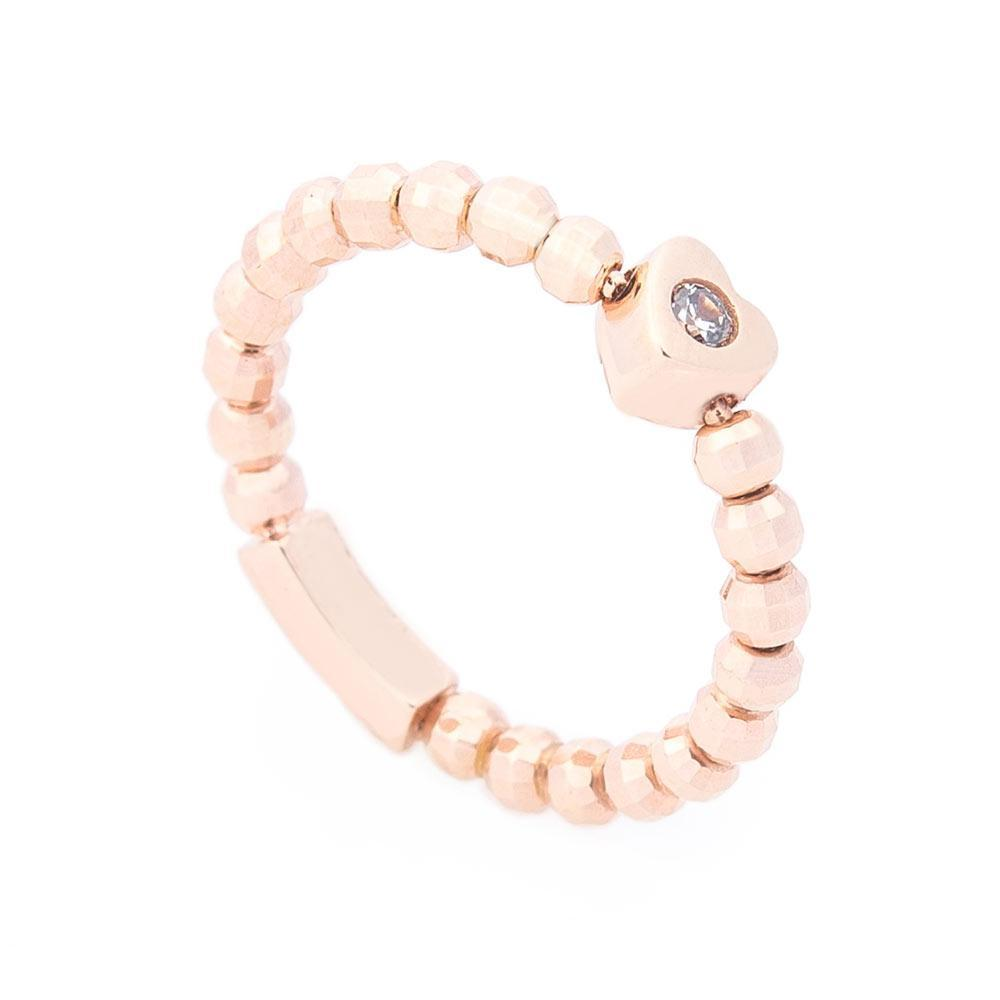 Золотое кольцо с сердечком (фианит) гк06180