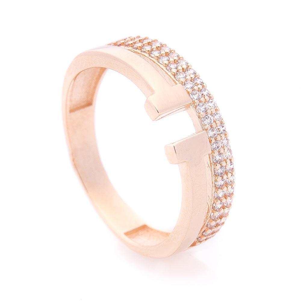 Золотое кольцо с фианитами гк06208
